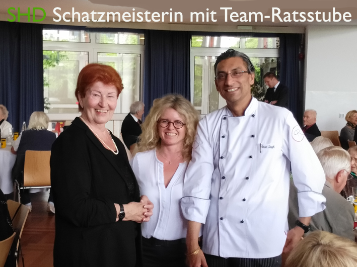 Renate mit Team